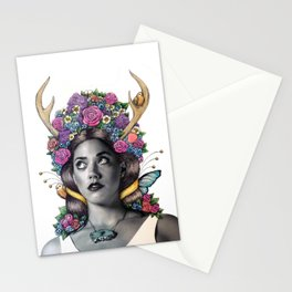 Flowered Prongs Stationery Cards