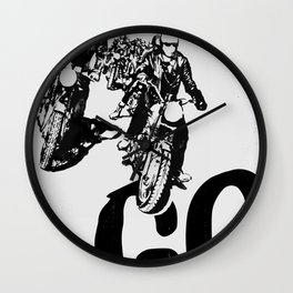 The Horde Motorcycle Art Print Wall Clock