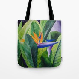 Bird of Paradise Painting by Teresa Thompson Tote Bag