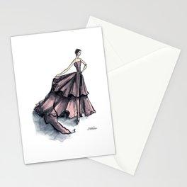 Audrey Hepburn in Pink dress vintage fashion Stationery Cards