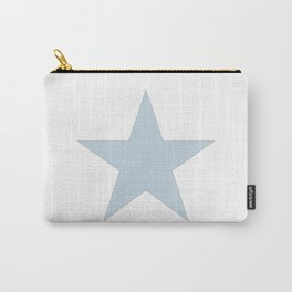 Single dove gray star on white Carry-All Pouch