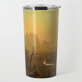 Classical Masterpiece Yosemite Valley - Glacier Point Trail by Albert Bierstadt Travel Mug