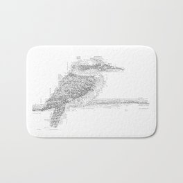 ASCII Kookaburra Bath Mat