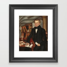 Vermont Lawyer Oil Painting by Horace Bundy Framed Art Print