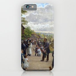 Sunday in Bas-Meudon Landscape Painting by Firmin-Girard iPhone Case