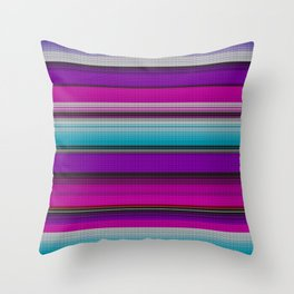Mexican serape #7 Throw Pillow