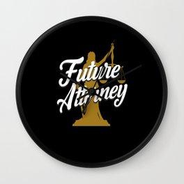 Future Attorney Wall Clock