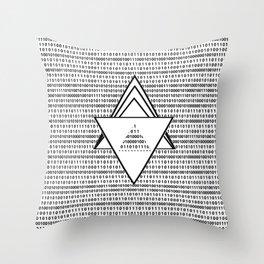 Binary code Throw Pillow