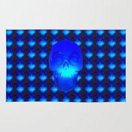 Blue Crystal Skull Rug