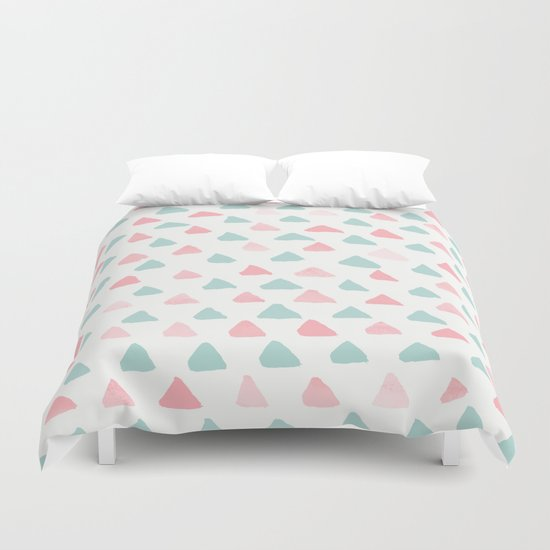 pastel triangles 2 Duvet Cover