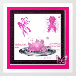 BC Know The Risk Butterfly Art Print