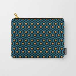 Blue & Gold horror hotel carpet pattern Carry-All Pouch