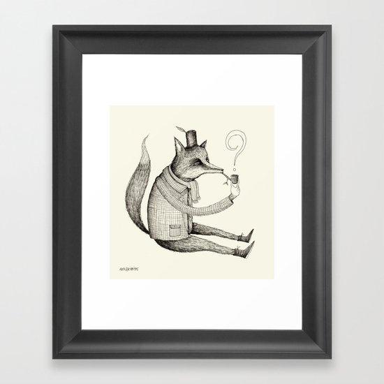 'Theories' Character Framed Art Print