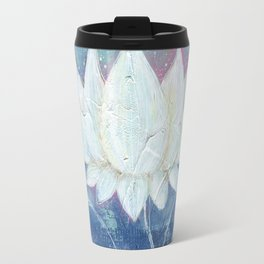 Abstract Lotus Art Acrylic Painting Reproduction by Kimberly Schulz Travel Mug