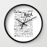 bible verse Wall Clocks featuring All The Days, Bible Verse Art by Kate D
