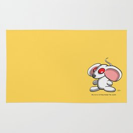 White mouse Rug