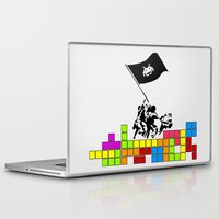 video games Laptop & iPad Skins featuring Video Games at Iwo Jima by Mike Dicker