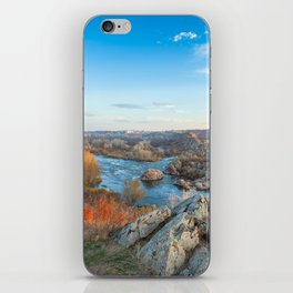 mountain landscape with Southern Bug river iPhone Skin