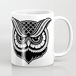 Traditional Owl Print Coffee Mug