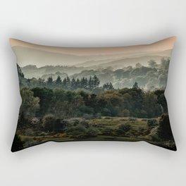 Foggy morning in Lake District Rectangular Pillow