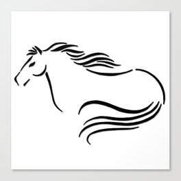 Swift Mare Stylized Inking Canvas Print