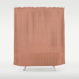 Living Coral Folky-Midcentury-modern Pattern Shower Curtain
