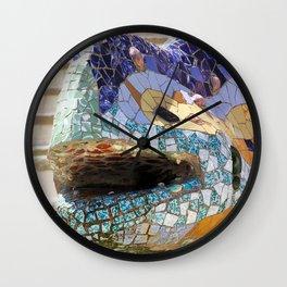 Gaudi's Lizard Wall Clock