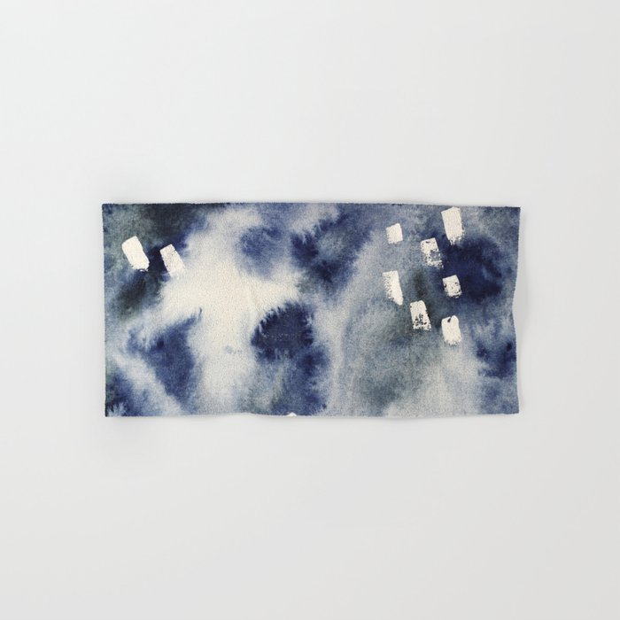 Ocean light || watercolor Hand & Bath Towel