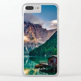 Pragser Wildsee or Lake Prags Italy Clear iPhone Case