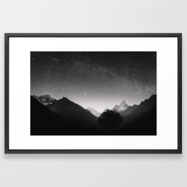 Himalayas at Night Framed Art Print