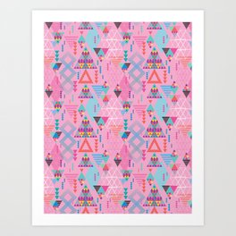 GeoTribal Pattern #008 Art Print