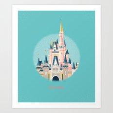 Florida Magic Kingdom Castle Art Print