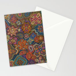 Crewel Jewel Floral by Nettwork2Design Nettie Heron-Middleton Stationery Cards
