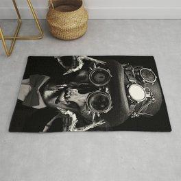 Steampunk Skull Gothic Victorian Horror Art Rug
