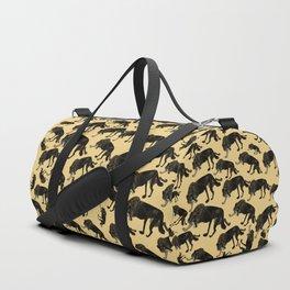Black wolf totem Duffle Bag