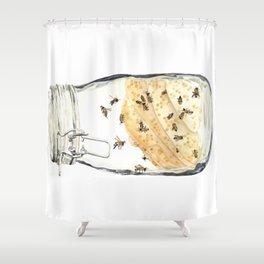 Captives: The Bee Jar Shower Curtain