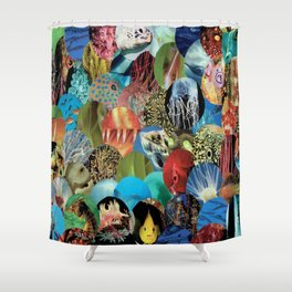 Collage - Feeling Fishy Shower Curtain