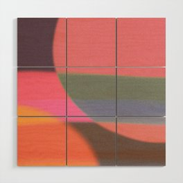 Mid-century modern abstract composition Wood Wall Art