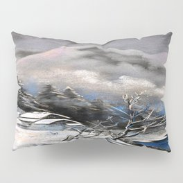 Winter village in the mountains Pillow Sham