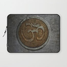 The sound of the Universe. Gold Ohm Sign On Stone Laptop Sleeve