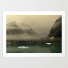 Icebergs in Alaska Art Print