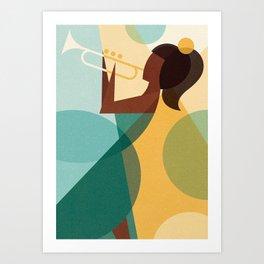 Trumpetiste Art Print