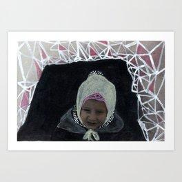 Triangle Snow Fort Adventures - Katrina Niswander Art Print