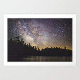Milky Way in Algonquin Park Art Print