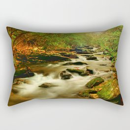 Fall Along Rock Castle Rectangular Pillow