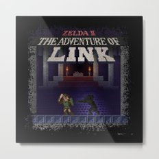 The Link Adventure of Zelda, too Metal Print