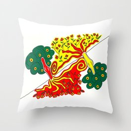 Rooted caress Throw Pillow