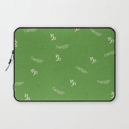 Capricorn Pattern - Green Laptop Sleeve
