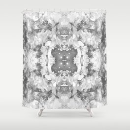 Abstract 20 Gray Shower Curtain