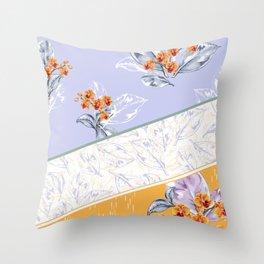 Spring/Summer Floral Throw Pillow
